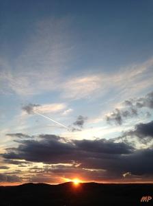 Hebstsonnenuntergang
